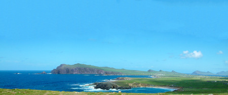 irish landscape: Ring of Kerry, Epic Scenic Irish Landscape and Seascape from county Kerry in Ireland. Along the wild atlantic way.