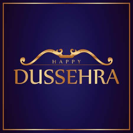 illustration bow vector design for happy dussehra holiday india celebration