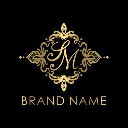 S&M initial logo creative concept
