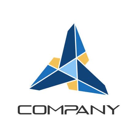 triangle propeller logo creative concept