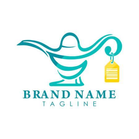 genie lamp store logo creative concept Logo