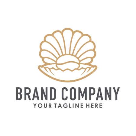 coffee shell logo creative concept