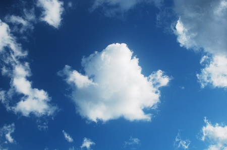 bright white cloud on the blue sky