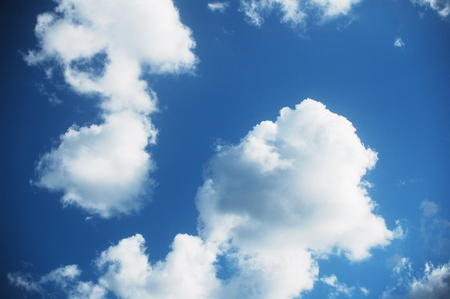 beautiful clouds on the summer sky