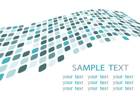 Blue abstract template Illustration
