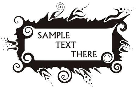 wallpapering: Banner  Frame for text  Illustration