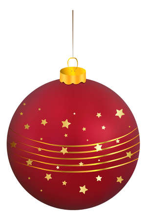 Red Christmas decorative ball Vector