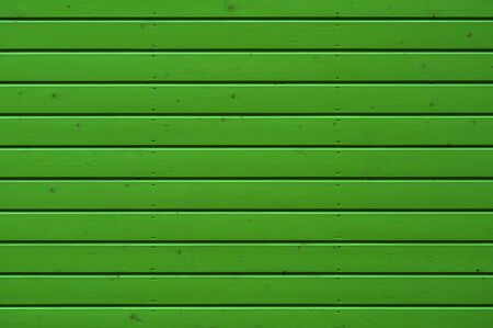 Wood planks, planks painted in green. Horizontally
