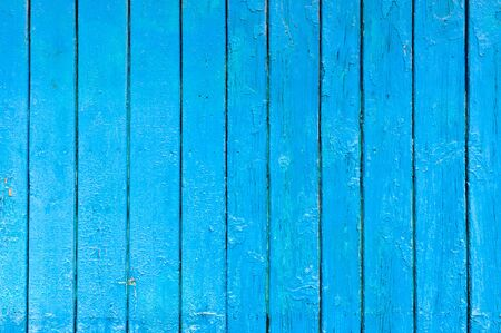 Wood planks, planks painted in blue. Vertically