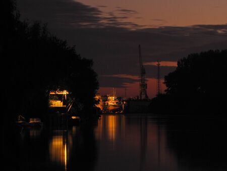 Ship and repair. Night