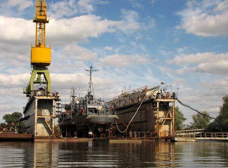 Ship and repair Stock Photo
