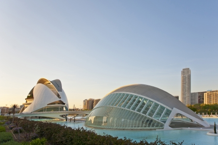 The Hemisphere In The City of Arts and Science in Valencia ,Spain