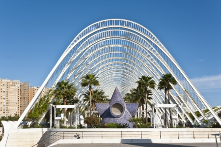 The City of Arts and Science in Valencia,Spain
