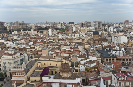 View on Valencia from The tower Miguelete,Spain Stock Photo - 13697313