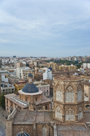 View of The Cathedral iv Valencia from The Tower Miguelete,Spain Stock Photo - 13697155