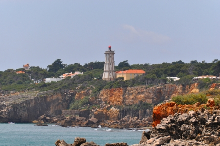 A lighthouse on a cliff in Portugal Stock Photo - 14212510