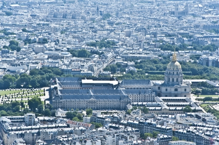 Paris from above  The city center Stock Photo - 15646380