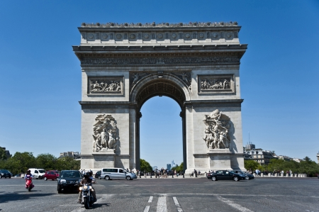 Triumphal Arch in Paris,France  photo