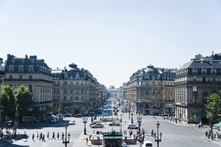 View of Paris from the balcony of The Opera Garnier