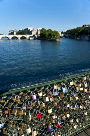 Locks on the bridge of Lovers in Paris