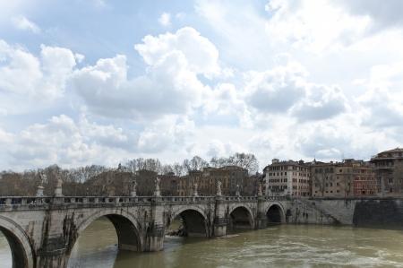 hadrian: The Bridge of Hadrian across The Tibre  Italy