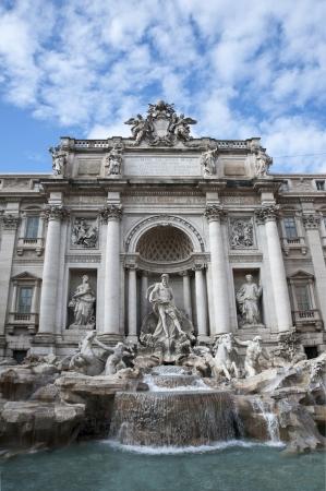 The Fountain Trevi in Rome, Italy  photo
