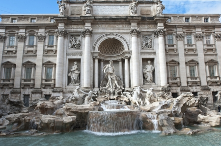 The Fountain Trevi in Rome, Italy  photo