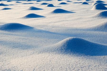 hillock: snow hillock