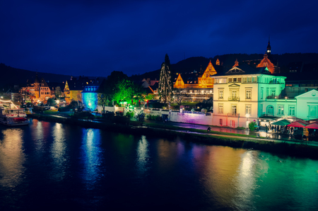 Traben-Trarbach at the time of the Christmas market in Germany in 2018 with the banks of the Moselle Standard-Bild