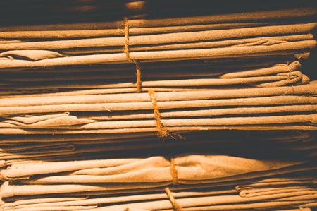 Linen fabrics superimposed with dark optics