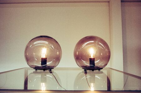 Vintage lamps decoration in home