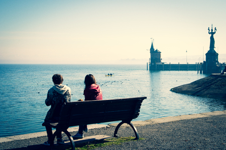 Harbor in Constance - Lake Constance - Germany