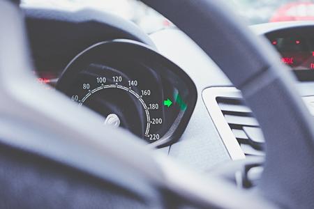Car cruise control closeup Stock Photo