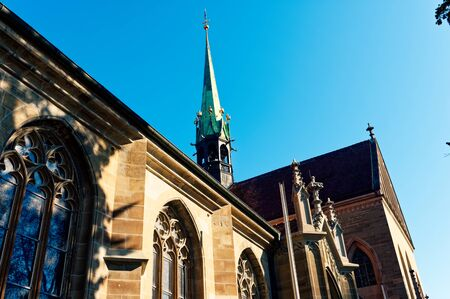 Church in Konstanz with blue sky Konstanzer Münster Standard-Bild - 124811730