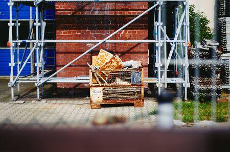 Scaffolding of a scaffolder for storage in a scaffolding construction company Reklamní fotografie