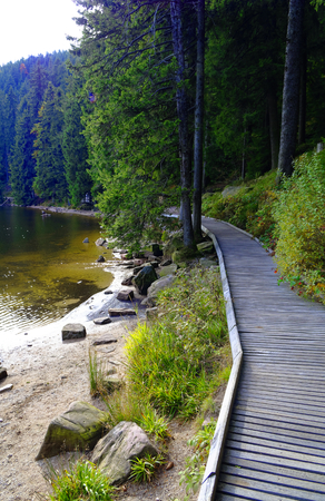 Mummelsee in the Black Forest near Achern in Baden-Wurttemberg Germany Europe with water and forest on the shore taken on 2017.09.29 Sajtókép