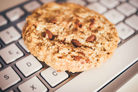 Cookies with a keyboard to clarify cookie banners for websites