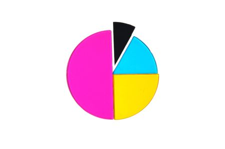 Pie chart with section emphasized. Stock fotó