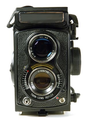 Twin-Lens Reflex camera Stock Photo