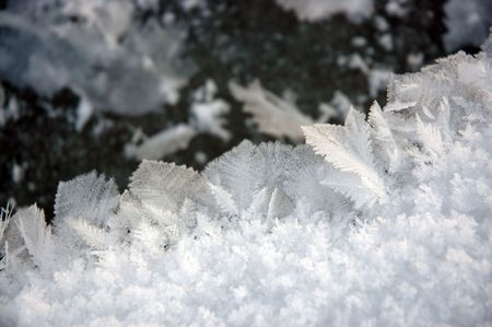Ice crystals Stok Fotoğraf