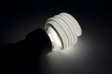 An energy efficient compact fluorescent light bulb
