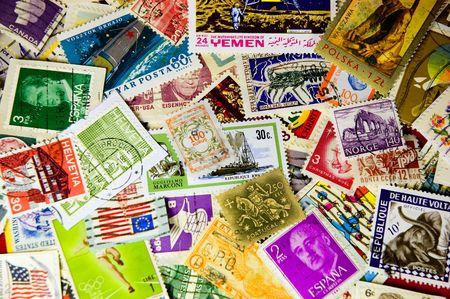 世界の切手のコレクション