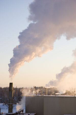 coal fired: Steam rises above a coal fired power plant.