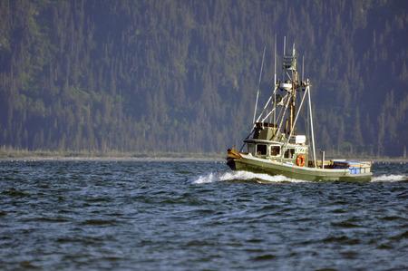 Fishing boat in the Kachemak Bay, near Homer, Alaska  photo