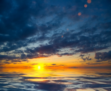 Spring sky background on sunset  Nature composition photo