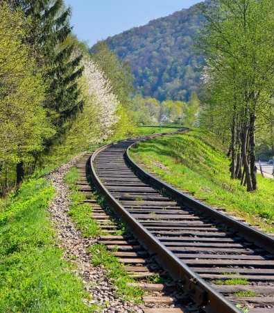 disappears: Railway disappears in the mountains