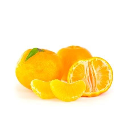 mandarins: Mandarins on white background