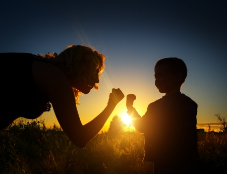 temper: Son shows temper of mother