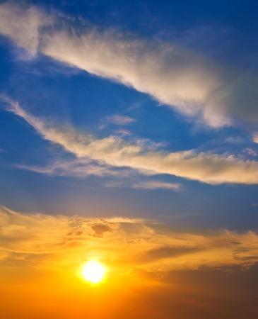 sunset sky: Sunset sky in summer time