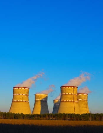 cooling towers: The cooling towers of the nuclear power plant
